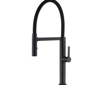 Spin Pull Down Sink Mixer (Matte Black)