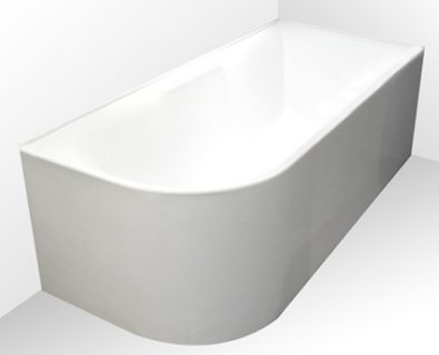 Aqua Corner Freestanding Bath 1700mm (LHS)>
