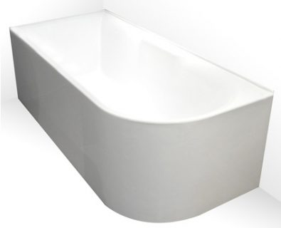Aqua Corner Freestanding Bath 1700mm (RHS)>