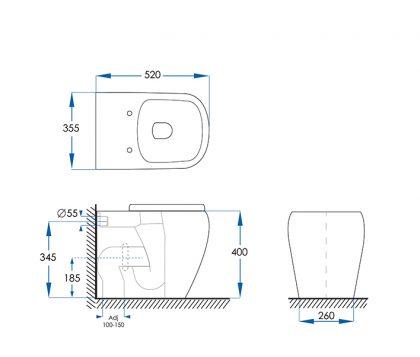 Kubica Floor Pan Toilet Tech