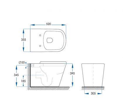 Kali Floor Pan Toilet Tech
