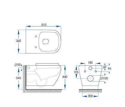 Kubica Wall Hung Pan Toilet Tech