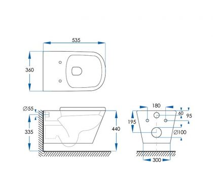 Kali Wall Hung Pan Toilet Tech