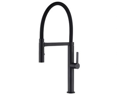 Spin Pull Down Sink Mixer (Matte Black)>