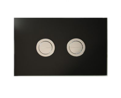Push Plate for Pneumatic Cistern (Black Glass)>