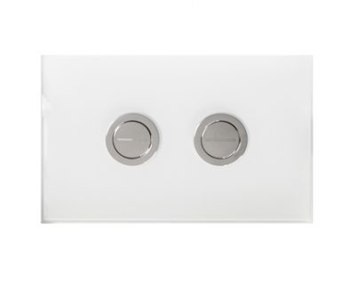 Push Plate for Pneumatic Cistern (White Glass)>