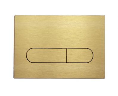 Push Plate for Pneumatic Cistern (Brushed Brass)>