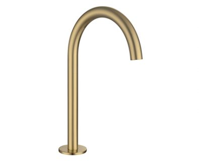 Spin Round Basin/Bath Hob Spout (Brushed Brass)>