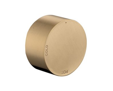 Spin Round Progressive Wall Mixer (Brushed Brass)>