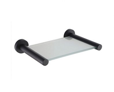 Spin Nero Glass Shelf 150mm (Matte Black)>