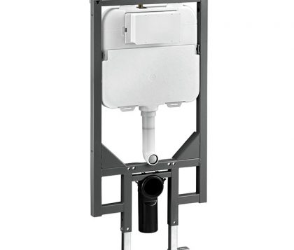 Pneumatic In Wall Cistern with Wall Bracket