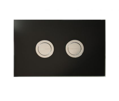 Black Glass Push Plate
