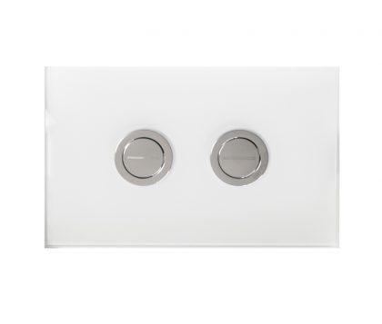 White Glass Push Plate