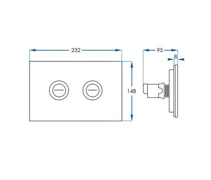 White Glass Push Plate Tech