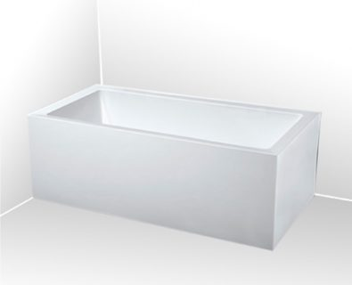 Lugo Corner Freestanding Bath 1650mm (RHS)>