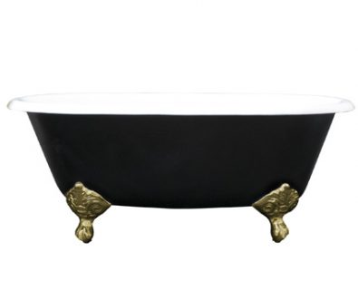 Oliver Cast Iron Clawfoot Bath 1525mm (Black)>