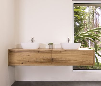 Jones & Jones Wall Mount Blackbutt Timber Vanity 1800mm