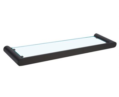 Eden Nero Glass Shelf (Matte Black)>
