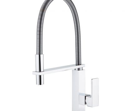 Chevron Pull Down Sink Mixer (Chrome)