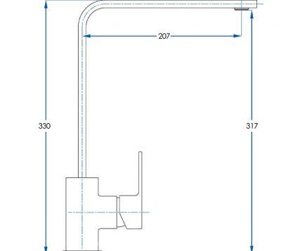 Ottimo Gooseneck Sink Mixer Tech