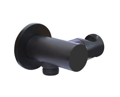 Spin Nero Wall Elbow with Hand Shower Bracket (Matte Black)>