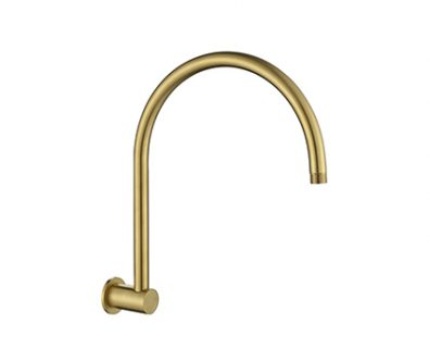 Spin Round Gooseneck Wall Arm (Brushed Brass)>