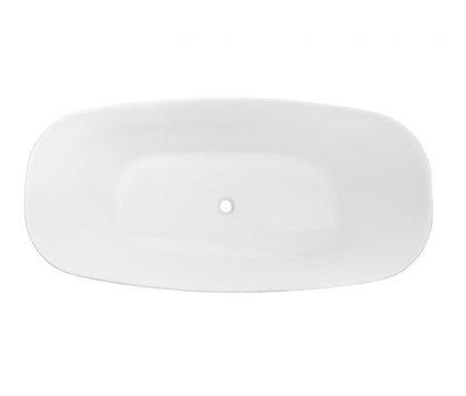 Acacia Matte White Freestanding Bath