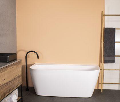Aspen Matte White Freestanding Bath