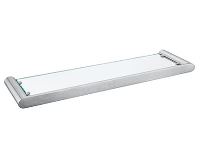 Eden Glass Shelf (Brushed Nickel)>