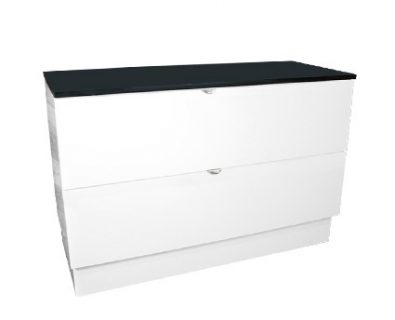 Como Floor Mount Vanity 1200mm (Matte White)>