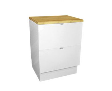 Como Floor Mount Vanity 600mm (Matte White)>