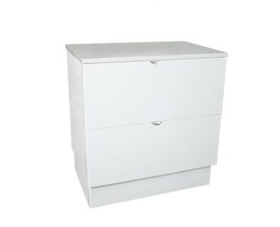 Como Floor Mount Vanity 750mm (Matte White)>