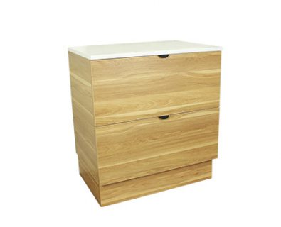 Como Floor Mount Vanity 750mm (Timber)>