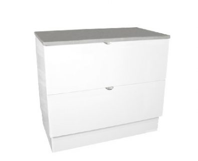 Como Floor Mount Vanity 900mm (Matte White)>