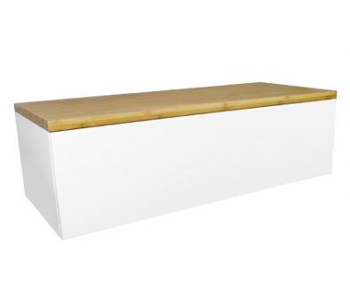 Eden Matte White Wall Mount Vanity Cabinet 1200mm>