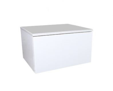 Eden Matte White Wall Mount Vanity Cabinet 600mm>