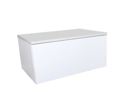 Eden Matte White Wall Mount Vanity Cabinet 750mm>