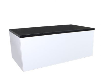 Eden Matte White Wall Mount Vanity Cabinet 900mm>
