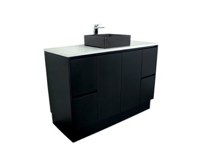 Lyra Floor Mount Vanity 1200mm (Matte Black)>