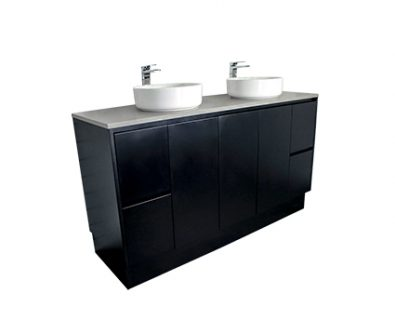 Lyra Floor Mount Vanity 1500mm (Matte Black)>
