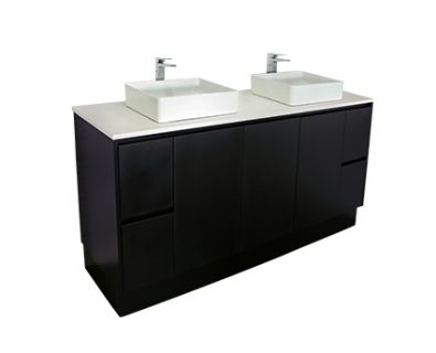 Lyra Floor Mount Vanity 1800mm (Matte Black)>