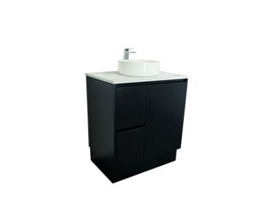 Lyra Floor Mount Vanity 750mm (Matte Black)>