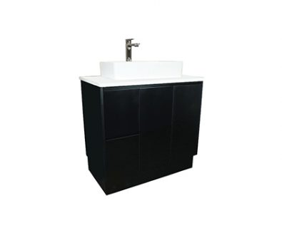 Lyra Floor Mount Vanity 900mm (Matte Black)>