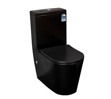 Lani Wall Faced Toilet Suite (Matte Black)>