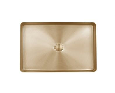 Astrid Rectangle Stainless Steel Basin (Brushed Brass)>