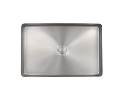 Astrid Rectangle Stainless Steel Basin (Brushed Nickel)>