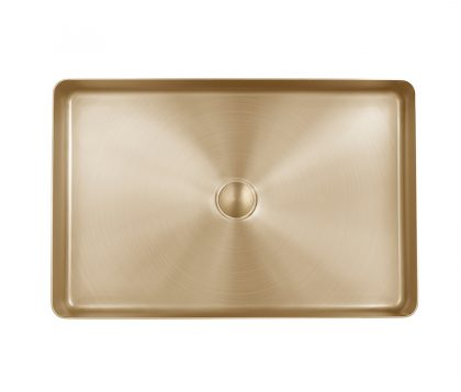 Astrid Rectangle Stainless Steel Basin (Brushed Brass)