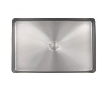 Astrid Rectangle Stainless Steel Basin (Brushed Nickel)