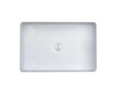 Astrid Rectangle Stainless Steel Basin (Gloss White)>