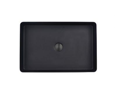 Astrid Rectangle Stainless Steel Basin (Matte Black)>